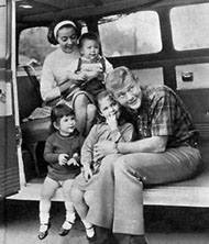 Martin Milner and his children
