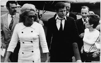 Ted Kennedy at funeral