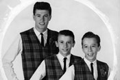 Maurice Gibb with his brothers in the Rattlesnakes