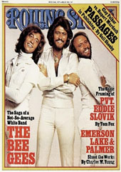 Bee Gees on cover of Rolling Stone Magazine