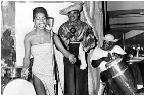 Maya Angelou performing as a dancer and calypso singer