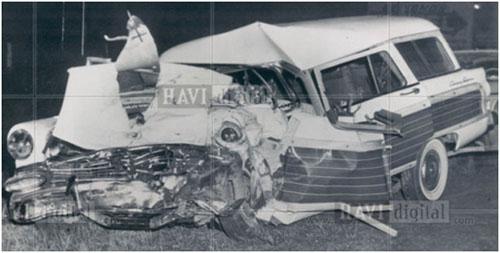 Mel Ott car crash
