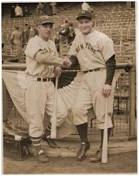 Mel Ott and Lou Gehrig