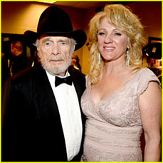 Merle Haggard with Theresa Ann Lane