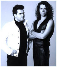 Michael Hutchence with Andrew Farris