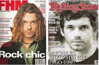 Michael Hutchence on the cover of FHM and Rolling Stone