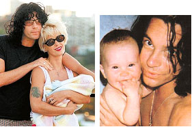Michael Hutchence with his daughter