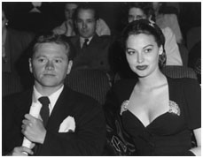 Mickey Rooney with Ava Gardner