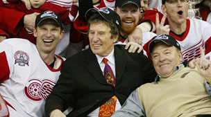 Mike Ilitch with the Redwings