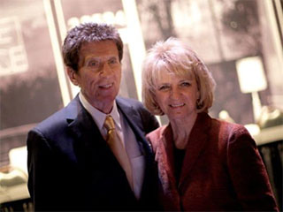 Mike Ilitch and wife
