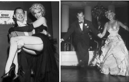 Milton Berle and Marilyn Monroe