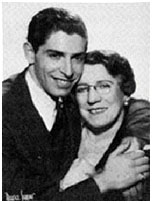 Milton Berle with his mother