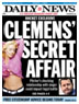 Mindy McCready on cover of Ny Daily News reporting her affair with Clemens