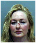 Mindy McCready with blood on her nose