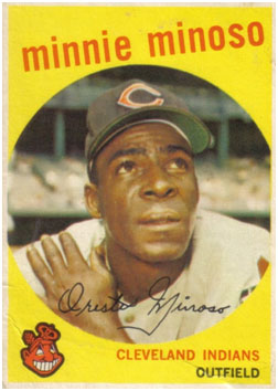 Minnie Minoso on the Indians