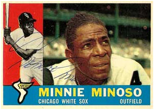 Minnie Minoso Whitesox baseball card