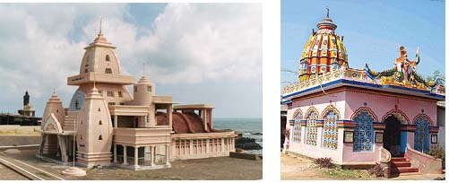 Two temples dedicated to Mohandas Ganhdi