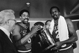 Moses Malone with Dr. J