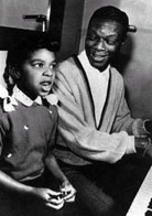 Natalie Cole singing with her father at age 6