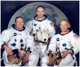 Neil Armstrong with other Apollo 11 members