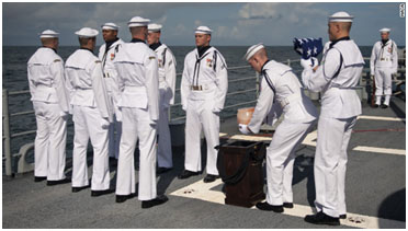 Neil Armstrong burial at sea