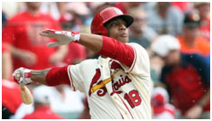 Oscar Taveras playing on Cardinals