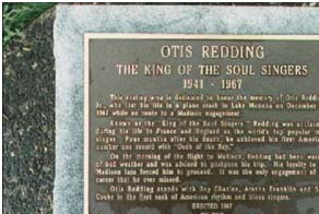 Otis Redding's headstone
