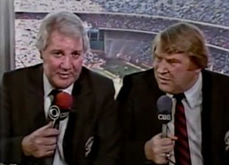 Pat Summerall with John Madden