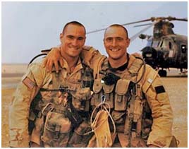Pat Tillman with his brother in the army