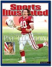 Pat Tillman on the cover of sports illustrated