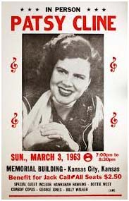 Patsy Cline benefit concert poster