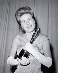Patty Duke with her academy award