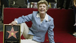 Patty Duke, star on the Hollywood Walk of Fame in 2004