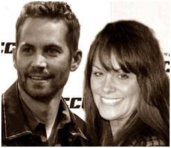 Paul Walker with one-time girlfriend Rebecca McBrain