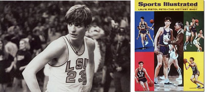 Pete Maravich on cover of sports illustrated