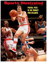 Pete Maravich on cover of sports illustrated in 1970