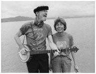 Pete Seeger with his wife, Toshi-Aline Ota