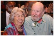 Pete Seeger with his wife, later in life