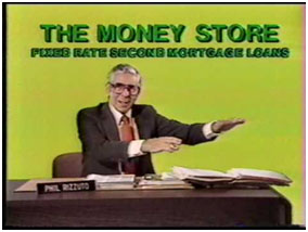Phil Rizzuto in an advertisement for The Money Store