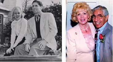 Phil Rizzuto and his wife