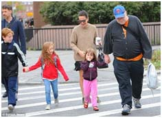 Phillip Seymour Hoffman with his kids