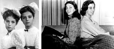 Pier Angeli and her sister