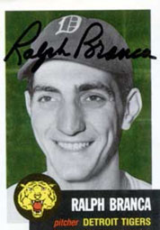 Ralph Branca with the Tigers