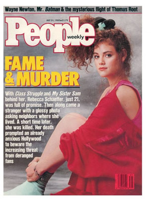 Rebecca Schaeffer on cover of people magazine after her death
