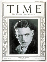 Red Grange on cover of TIME Magazine