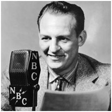 Red Grange working as a sportscaster