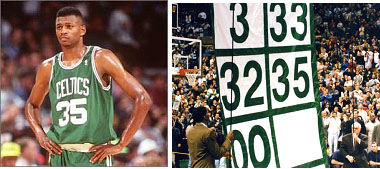 Reggie Lewis number 35 retired