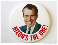 Richard Nixon presidential campaign button