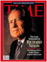 Nixon on the cover of TIME Magazine