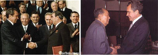 Nixon with different world leaders